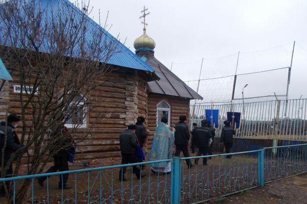 Православная община осужденных ИК-7 отметила престольный праздник храма в честь иконы Божией Матери «Всех скорбящих Радость»
