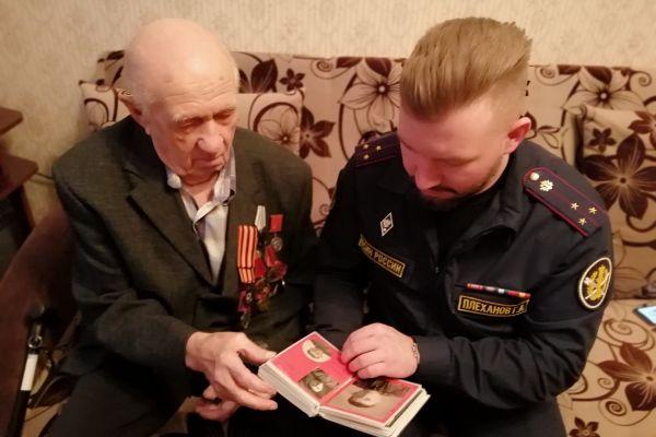 Ветеран Великой Отечественной войны Борис Иванович Пупышев поделился подробностями своей биографии с осужденными Ижевской ВК