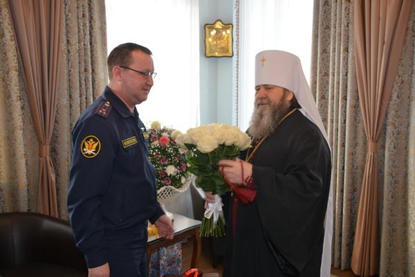 Михаил Арсланов поздравил главу Удмуртской митрополии с днем ангела